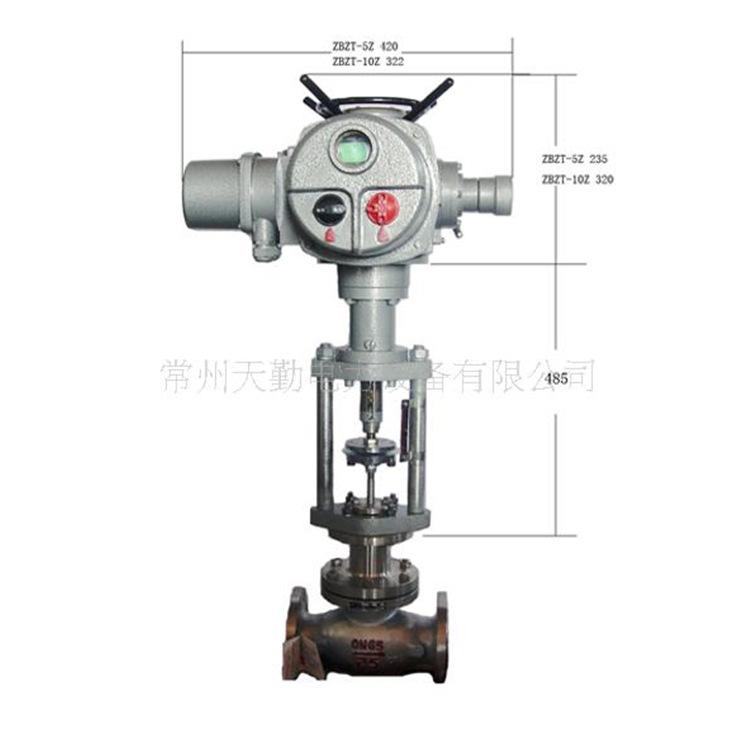 常州厂家生产zwz-zt直行程调节型阀门电动执行机构化
